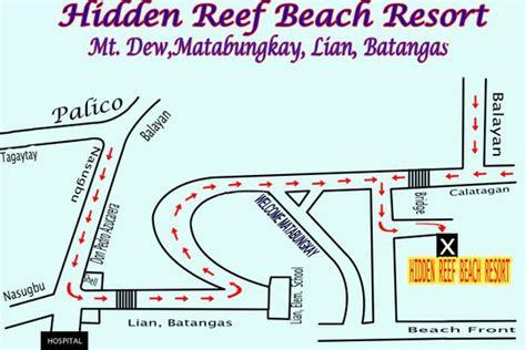 matabungkay resort map resort reef resort