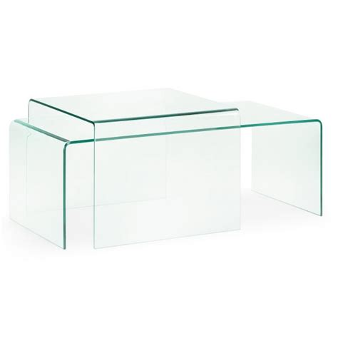 Tempered Glass Coffee Table Burano 60 Transparent Tempered Glass Square Coffee Table Livitalia Design