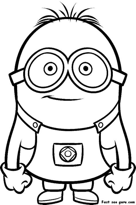 printable coloring pages minions free coloring pages of e boys face