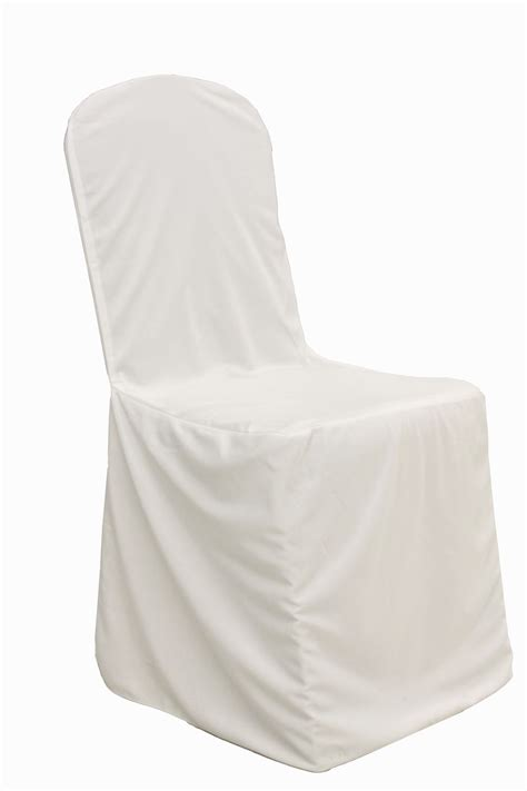 white banquet chair cover by summit city rental