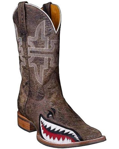 shark cowboy boots tin haul gnarly shark cowboy boots square toe sheplers