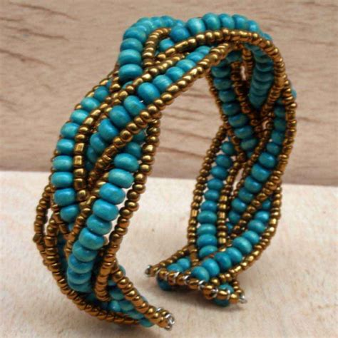 beaded jewelry bracelets beaded bracelet with turquoise wooden