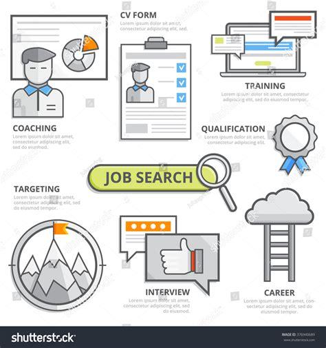 concept design job requirements job search design concept cv resume stock vector 376940689