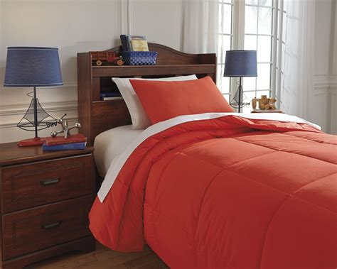 red comforter set twin plainfield red twin comforter set from ashley q759091t
