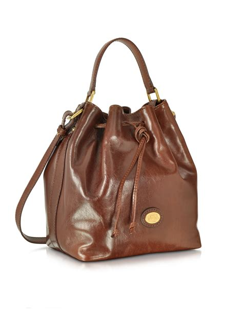 brown leather bags the bridge brown leather bag in brown lyst