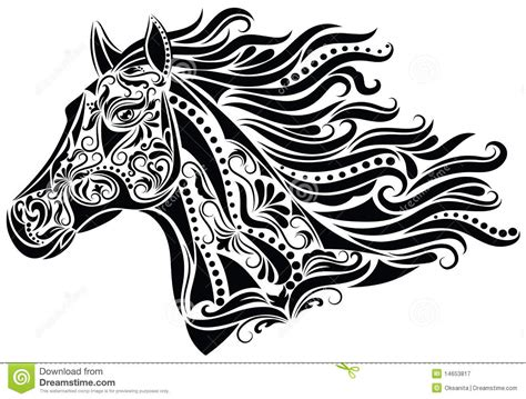 abstract horse stock vector image of abstract drawing