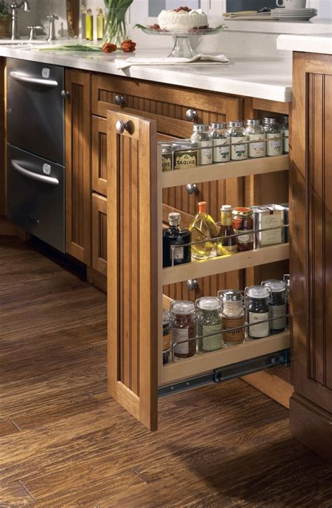 Pullouts For Kitchen Cabinets by Built In Spice Rack Pull Out Cabinet Adjusting Shelves
