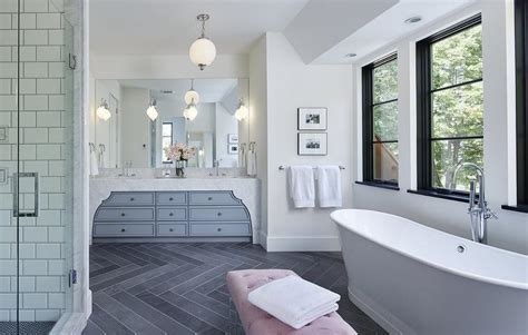 pink and gray bathroom gray bathroom with pink lucite bench contemporary bathroom
