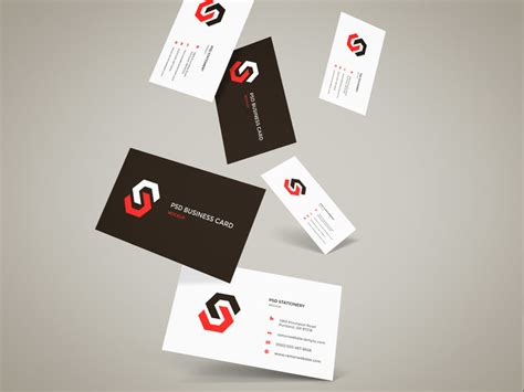 free psd business card mockup flying business cards mockup free psd at