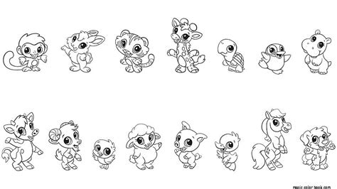 printable coloring pages of baby animals free coloring pages of baby jungle animals