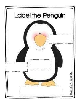 label the penguin freebie after school care