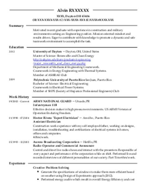 Resume Sle For Utility Engineer Energy And Utilities Resume Exles Engineering Resumes Livecareer
