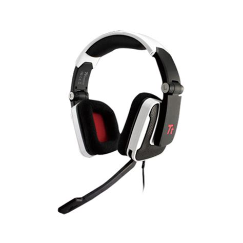 Headset Tt Esports Shock Gaming thermaltake shock gaming headset black with microphone foldable ht shk002ecwh pcdirectuk