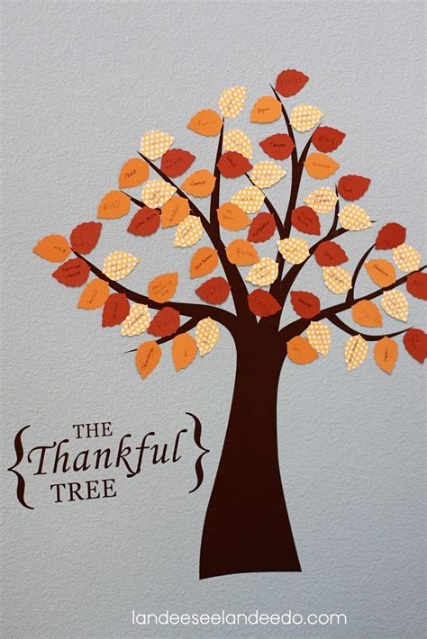 thankful tree craft for festival of trees the thankful tree landeelu