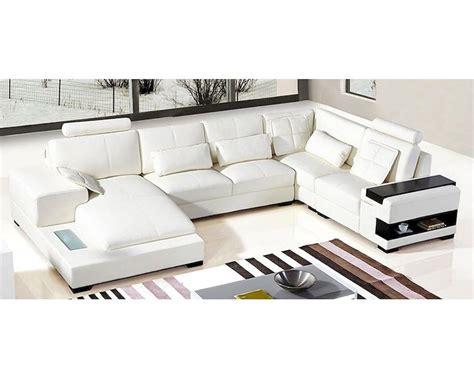 White Sectional Leather Sofa Modern Modern White Leather Sectional Sofa 44l5976