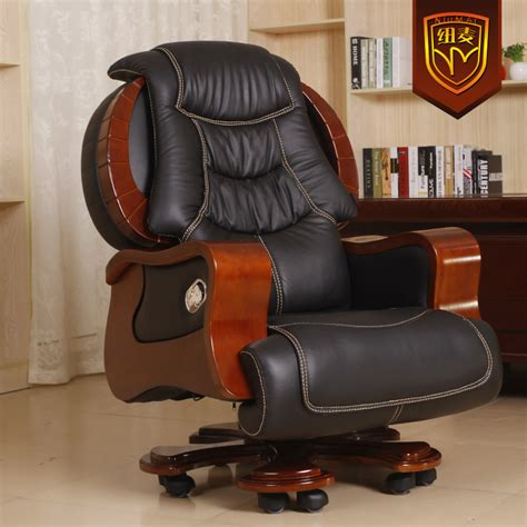 office recliner chair niumai luxurious leather reclining chairs swivel office
