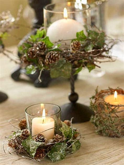 Moss Vase Filler Rustic Decor Candle Ivy Pinecones Wreath Set