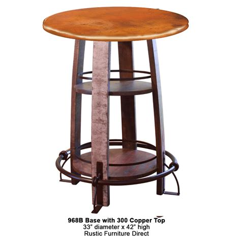 copper top bar table 968 pub table with copper top