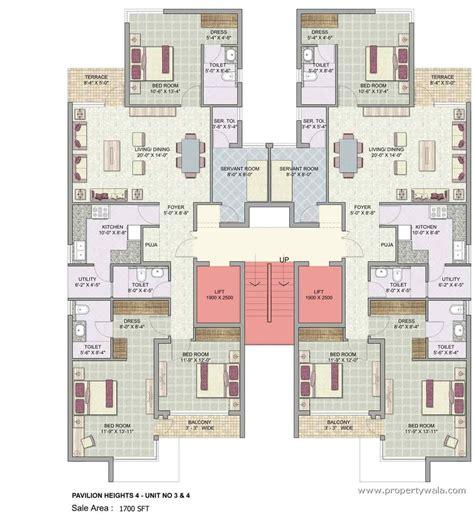 4 Plex Apartment Plans Jaypee Greens Pavilion Heights Sector 128 Noida