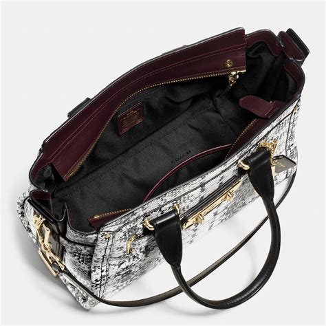 Coach Swagger 27 In Smooth Leather Black lyst coach swagger 27 in colorblock embossed