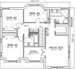 floor plans for 4 bedroom houses four bedroom house plans marceladick