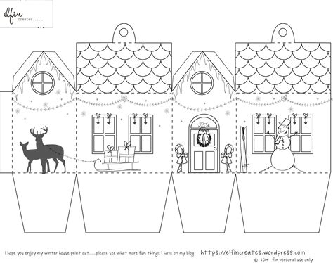 paper house templates to print paper house template pdf printable house 3d paper craft