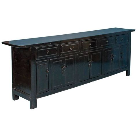 antique 19th century chinese black lacquered sideboard