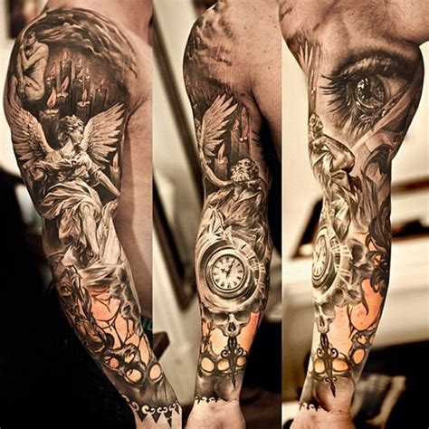 guardian tattoo full body 26 angel sleeve tattoos ideas