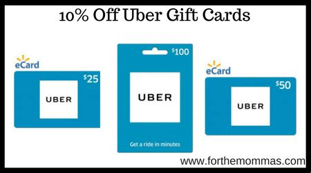 Uber Gift Card Cvs - walmart 10 off uber gift cards ftm
