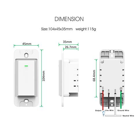 light switches compatible with google home wi fi smart wall light switch 1 pack omoton wireless