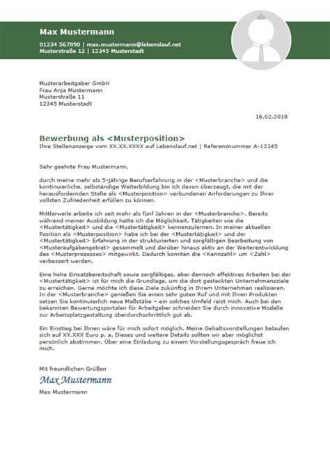 Lebenslauf Musterschreiben by Bewerbungsschreiben Professionelle Vorlagen Muster 2018