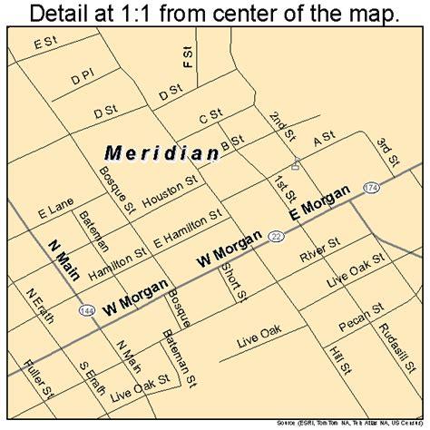 meridian texas map meridian texas map 4847760