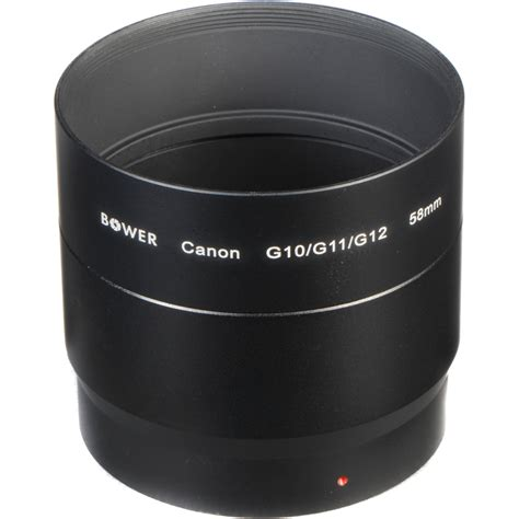 g12 canon bower canon g10 g11 g12 adapter 58mm a52g10c b h photo