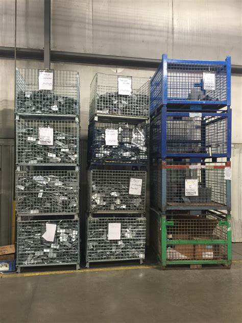 heavy duty metal baskets rigid wire mesh containers