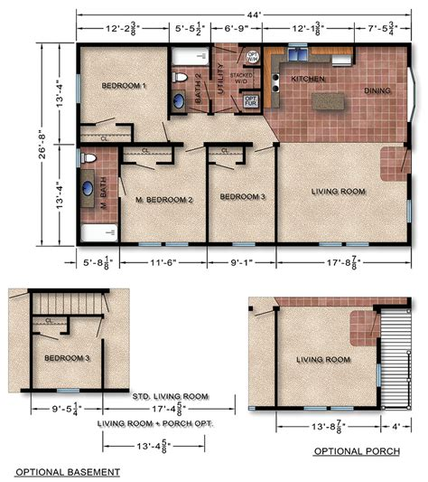 floor plans and prices modular home plans 26x44 ranch 171 floor plans