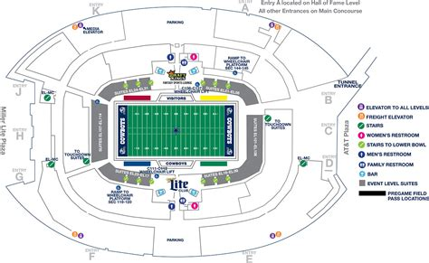 at t stadium map at t stadium parking map images