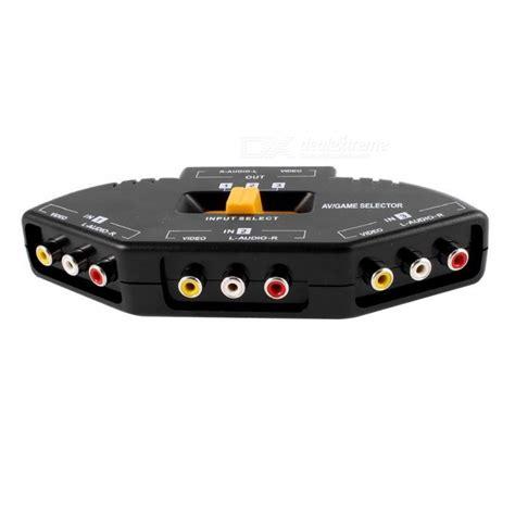Promo Promo Promo 3 Way Av Switcher Selector Multi Av Switch Merk Suoe 3 way audio av rca switch selector splitter black multicolor free shipping dealextreme