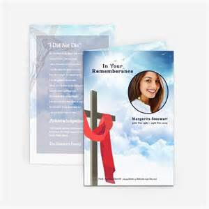 funeral card templates free 73 best printable funeral program templates images on