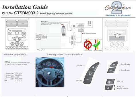 bmw e46 steering wheel controls bmw 3 e46 1999 2005 fitting kit steering wheel adaptor
