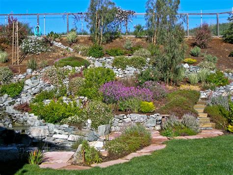 backyard hill landscaping ideas hillside landscape design gardening projects pinterest