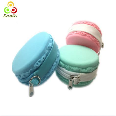 Macaroon Pouch 6 twist top macaron cookie containers jewelry or lip