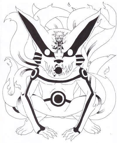 naruto rikudou coloring pages kurama and naruto by theark6 14 on deviantart