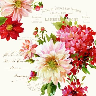Tissue Motif Napkin Decoupage Eu 023 season flowers decoupage napkin beautiful technology and flower