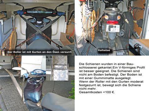 Motorrad Quer In Garage by Ein Motorrad In Die Garage Kein Problem