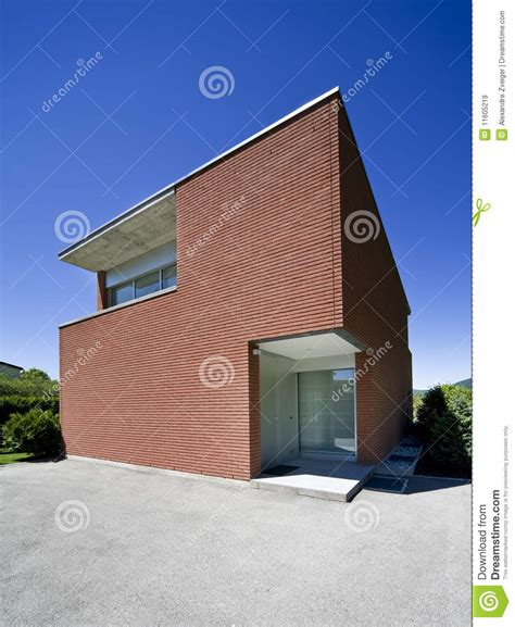 modern brick house modern brick house royalty free stock images image 11605219