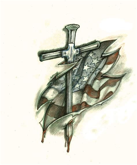 coolest cross army flag and top 25 best cool cross tattoos ideas on cross