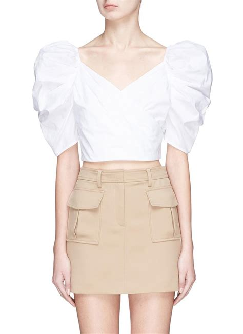 lyst c meo collective lift me puff sleeve cropped