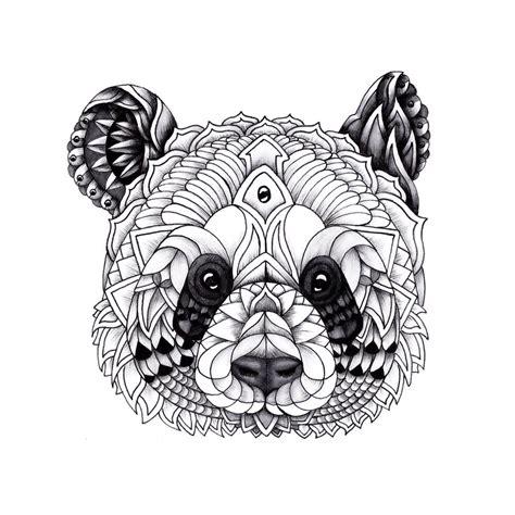 panda kopf tattoo https www behance net gallery 25992521 panda mandala