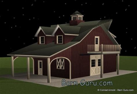barn plans with living space barn plans 2 stall horse barn with living quarters