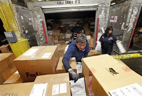 fedex ups confront busiest season on record